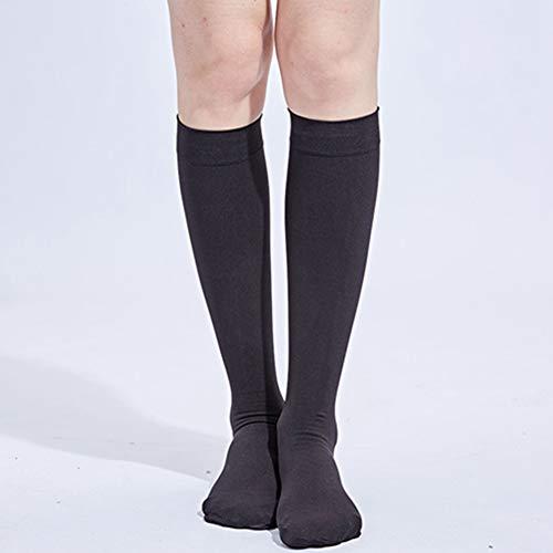 Egurs Kompressionsstrümpfe Damen Herren Stützstrümpfe (34-46MMHG,Klasse 3) für Schwangerschaft Sport Flug Anti-Thrombose Medizinische Socken 1# M