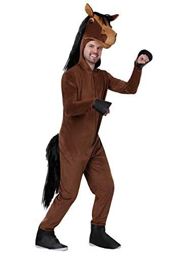 Disfraz de caballo para adultos. - marrn - Small