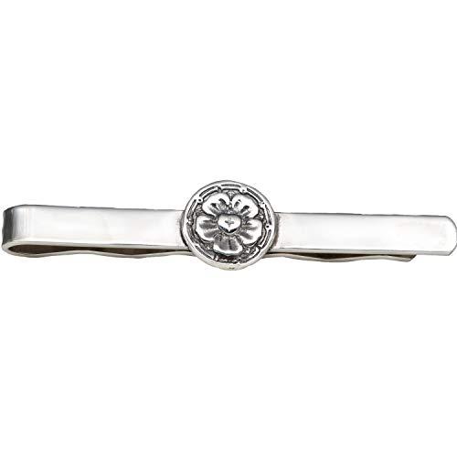Krawatten-Schieber Lutherrose, 925er Silber (Krawatten-Klammer)