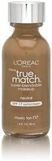 L'Oreal Paris Makeup True Match Super-Blendable Liquid Foundation, Classic Tan N7, 1 Fl Oz,1 Count