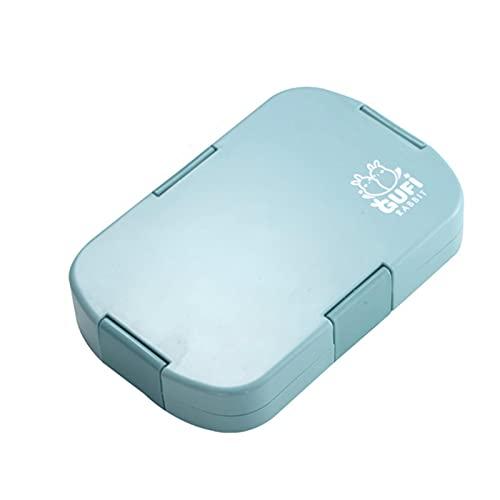 QAZWSXE 920ml 6 Rejillas Contenedor de Almacenamiento de Alimentos al Aire Libre Fiambrera Material Saludable Fiambrera Bento Cajas Microondas Vajilla Niños Portátil