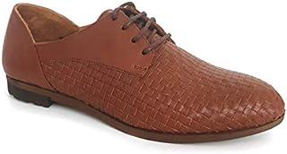 Elska Claire Tan Lace Up Shoes