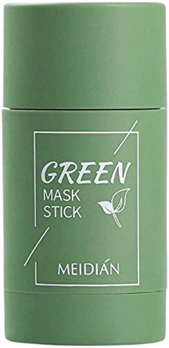 FILWO 1 X Grüner Tee Purifying Clay Stick Mask Gesichtsmaske, Stick Deep Cleansing Ölkontrolle Anti-Akne-Maske Fine Solid Mask Green Tea, Auberginen Mitesserentferner Gesichtsmaske Poren schrumpfen