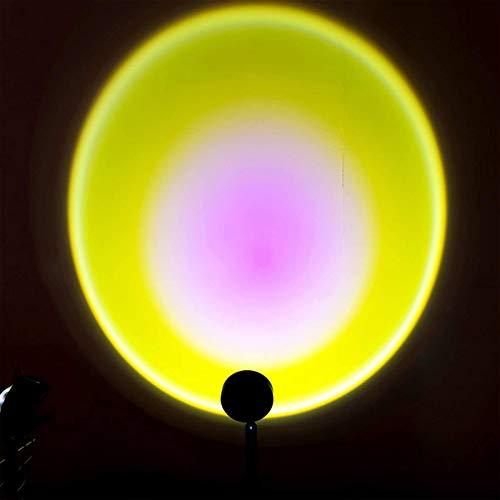 Lámpara de proyector LED, lámpara de proyección de arco iris de rotación de 90 grados, lámpara de proyección de puesta de sol, luz nocturna para decoración de dormitorio,Sunlight