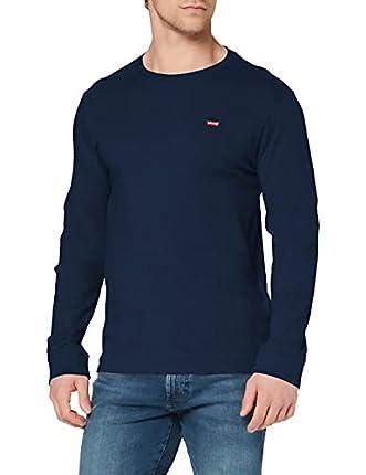 Levi's Original Hm tee Camiseta, LS Cotton + Patch Dress Blues, S para Hombre