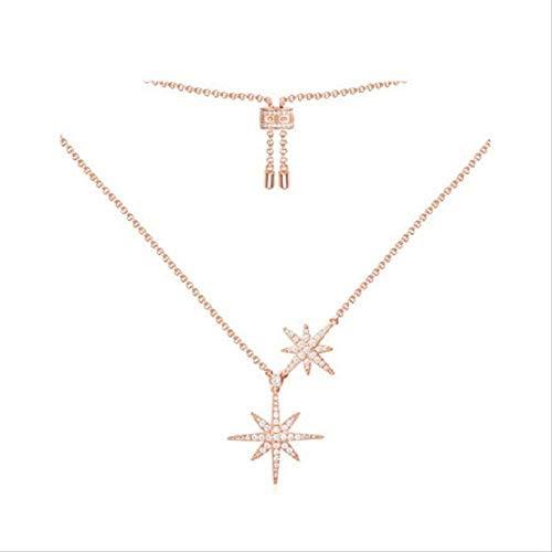 quanjiafu Necklace Women S Necklace Meteor Necklace Women S Jewelry Silver Light Collarbone Chain Star Pendant Neck Chain Silver Ornament Necklace