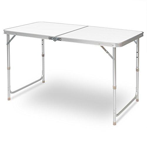 E-starain Campingtafel, picknicktafel, tuintafel, bijzettafel, inklapbaar en in hoogte verstelbaar, van aluminium MDF