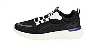 Anta Mesh Pull-Tab Front-Logo Low-Top Lace-Up Sneakers For Women - Black, 40 EU