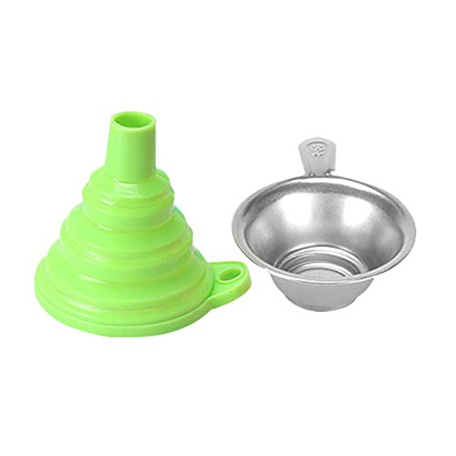 Ctzrzyt 3D Printer Accessories Resin Filter Cup Silicone Funnel Consumables Filter Funnels Metal Strainer for SLA Green