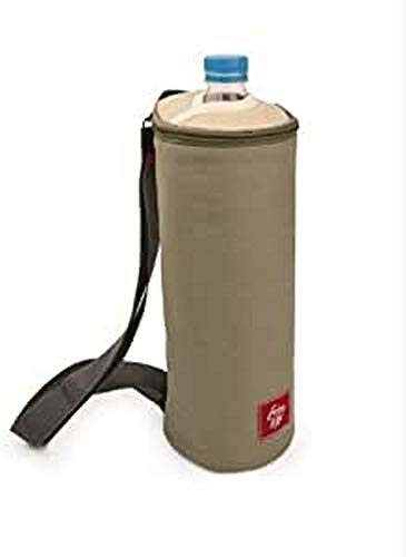 IRIS Portabotellas Bottle Bag Enjoy Life, Poliéster, Arena, 10 cm