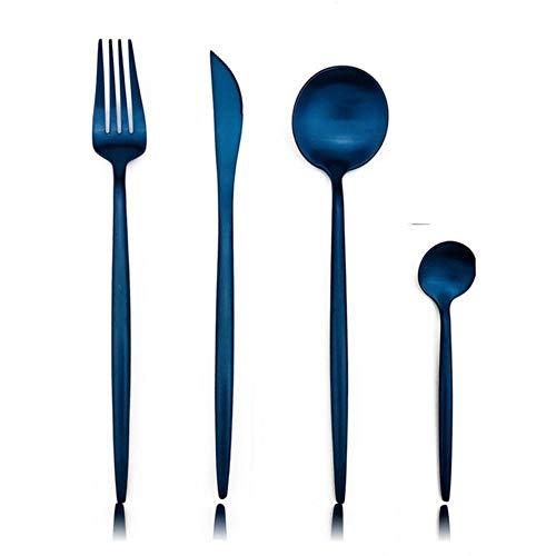 32pcs / 8set Colorful Blue Cubiertos Juego de cubiertos Acer