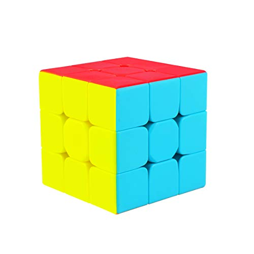 Cooja Rubix Cube 3x3, Stickerless Magic Cube 3x3x3 Speed Smooth Durable 3D Puzzle Cube Toy for Boys Girls