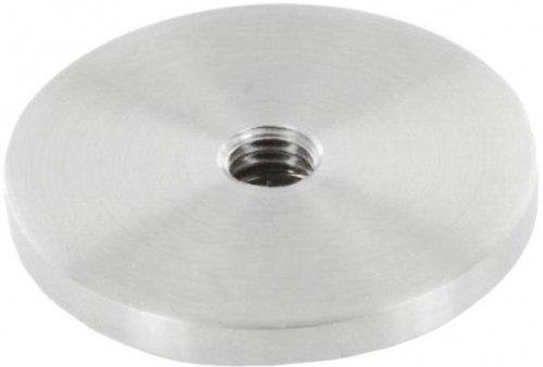 Platte mit M10 Innengewinde, zum Aufschweißen, für Rohr ø 48,3mm
