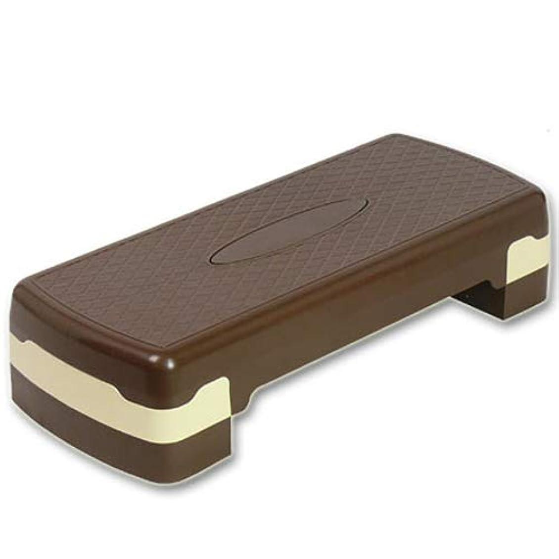 無しエスニックうまくいけばエクササイズステップ台 チョコレート