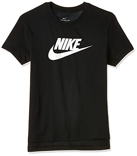 Nike Mädchen G Nsw Tee Dptl Basic Futura T shirt, Black/(White), 14 Jahre EU