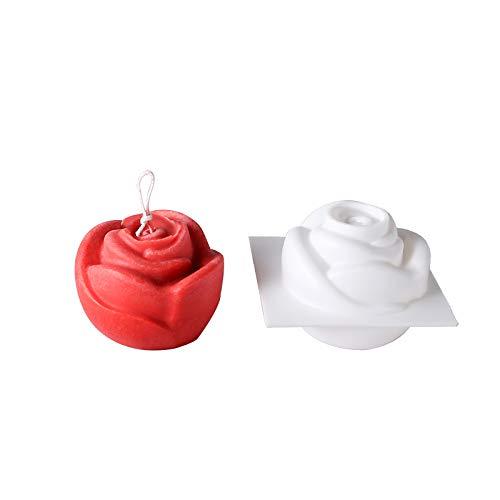 wangdazhaung Molde Rosa Vela, Bandeja De Arcilla para Hornear Galletas De Chocolate, Herramienta De Moldes Artesanales Caseros, 8.5X8.5Cm 8.5Cm*8.5Cm Rojo