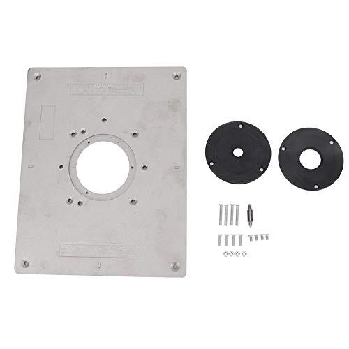 FTVOGUE Aluminiumlegierung Fräser Tischplatte mit Ringen und Schrauben für Holzbearbeitung Zubehör Handwerkzeuge DIY