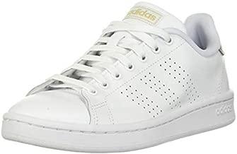 adidas womens Cloudfoam Advantage Cl Sneaker, White/White/Copper Metallic, 8.5 US