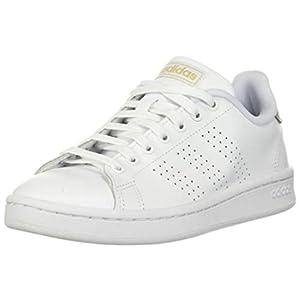 adidas Women's Advantage Sneaker, FTWR White/White/Copper Metallic, 11
