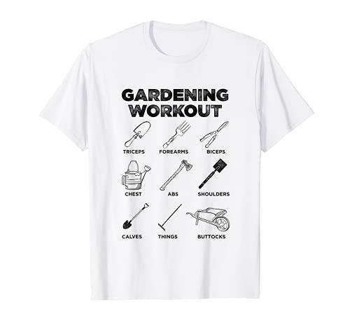 Jardinería Entrenamiento Jardinero Herramientas Arbustos Jardín Cortacésped Camiseta