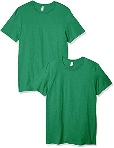 Fruit of the Loom Men's Crew T-Shirt (2 Pack), Clover, Medium