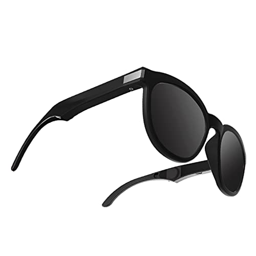 Sharplace Gafas de Sol de conducción ósea G4, Auriculares de conducción ósea Bluetooth Auriculares inalámbricos Manos Libres Auriculares Abiertos - Negro
