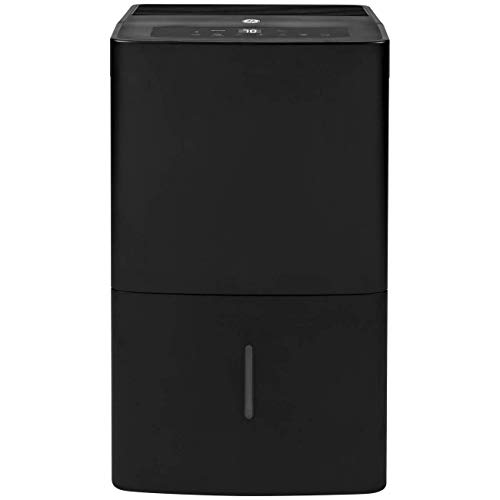 GE ADEW45LY Portable Compact Multi Speed Electric Home Dehumidifier with Auto Defrost, 45 Pints Per Day, Black (Renewed)