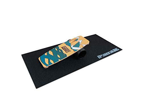 BoarderKING Indoorboard Limited Edition Skateboard Surfboard Trickboard Balanceboard Balance Board (Berge, 140 mm (Plastikrolle))