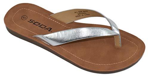Soda Shoes Women Flip Flops Basic P…