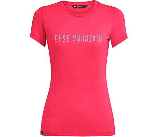 Salewa Pure M. Dri-Rel W S/S Tee T-Shirt Femme, Rouge chiné (Rouge Red Melange), 40/34