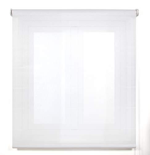 Blindecor Belmont, Estor enrollable Tejido translúcido, color Blanco, 110x270 cm (ancho x alto)