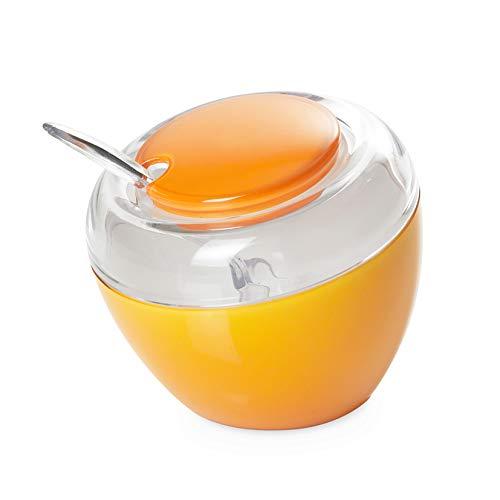 Omada Design Zuccheriera in plastica con Cucchiaino, Made in Italy, Scomponibile e Lavabile il Lavastoviglie, Linea Movida