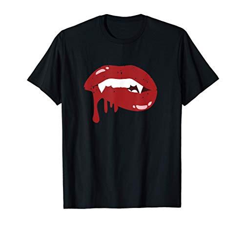 Sexy Vampire Lips, Vampire Bite Fangs T-Shirt
