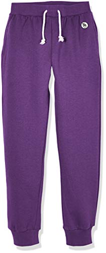 Kid Nation Kids Unisex Soft Brushed Fleece Casual Pull On Jogger Sweatpants with Pockets for Boys or Girls S Purple 02
