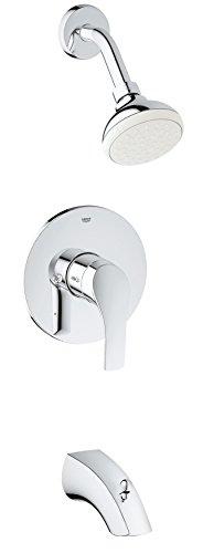 Grohe 3501220A Pressure Balance Valve Bathtub/Shower Combo Faucet, Chrome