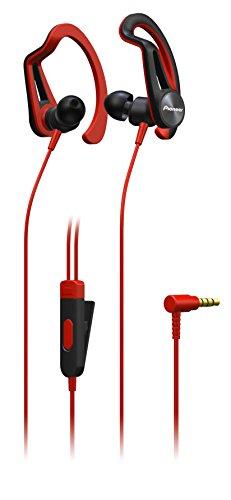 Pioneer E5T de R Auriculares deportivos con 7horas de tiempo de unidad, schweis sresitent, impermeable rojo