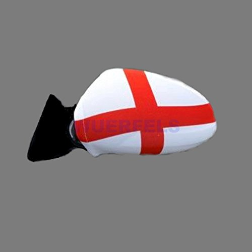 Sportfanshop24 Spiegelflagge/Spiegelfahne England 1 Paar, Auto/PKW Rückspiegel/Autospiegel Fahne/Flagge/Überzug/Socke Spiegelsocken