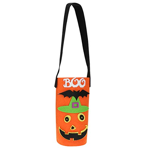 DOITOOL - Decoración de botella de vino para fiesta de Halloween, cubierta de botella elegante portátil (naranja)