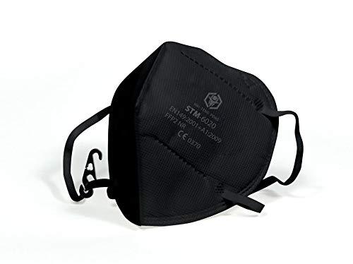 VeloVendo - FFP2 Maske CE Zertifiziert Schwarz (25 Stück einzelverpackt im PE-Beutel)