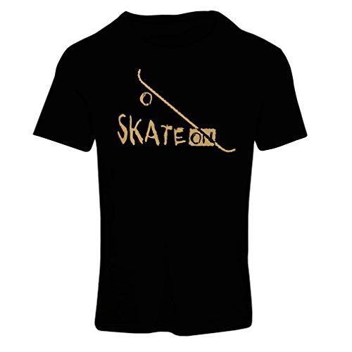 lepni.me Camiseta Mujer Skate ON ! Motivational Clothing - Skateboard/Skate/Longboard, Gifts For The Skateboarders