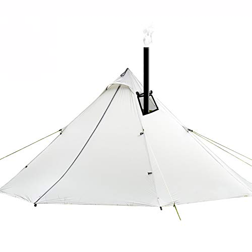 Flyzy Outdoor Pyramid Tent Ultralight Teepee Tent with Stovepipe Hole for Backpacking Camping Hiking