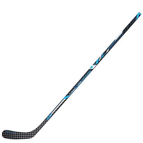Liergou-Sports Eishockeyschläger Professionelle Carbon-Faser-Eishockey Schläger Erwachsene Anti-Rutsch-Hockeyschläger Land Roller Bitten rechtshändig (Farbe : Blau, Größe : 66
