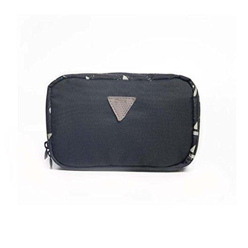 Sac cosmétique de sac de voyage noir de sac de voyage de sac de femmes