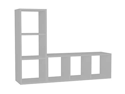 Alphamoebel 1896 TV Board Lowboard Fernsehtisch Fernsehschrank Sideboard, Fernseh Schrank Tisch für Wohnzimmer, Weiß, Natalie, 123,1 x 29,5 x 90 cm