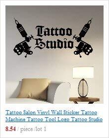 Persoonlijkheid Engel Vleugels Liefde Logo Vinyl Muursticker Tattoo Studio Poster Shop Signbord Venster Decoratie Art Decal