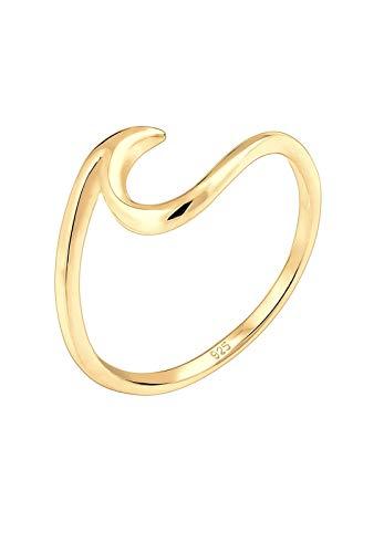 Elli Ring Elli Damen Ring mit Wellen Trendsymbol Strand Maritim in 925 Sterling Silber