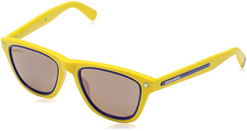 Dsquared D Squared Sun DQ0169 39G -51 -19 -145 D Squared Wayfarer Sonnenbrille 51, Yellow