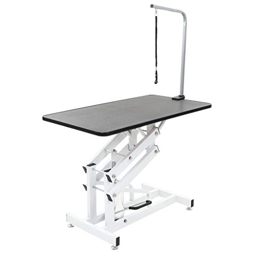 vidaXL Table Toilettage Ajustable Hydraulique pour Chiens Chats Animaux