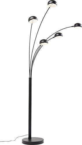 Kare Design - Lampada da Terra Five Fingers, Nero Opaco