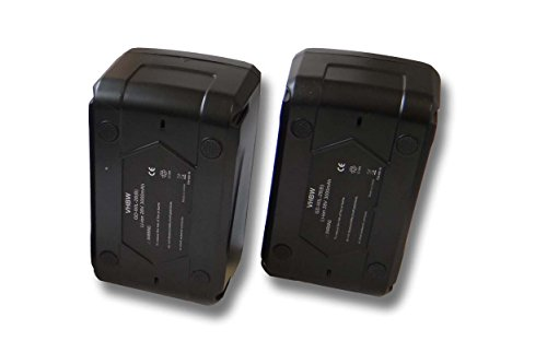 vhbw Set 2X batería Li-Ion 3000mAh (28V) para Herramientas Würth Destornillador eléctrico...